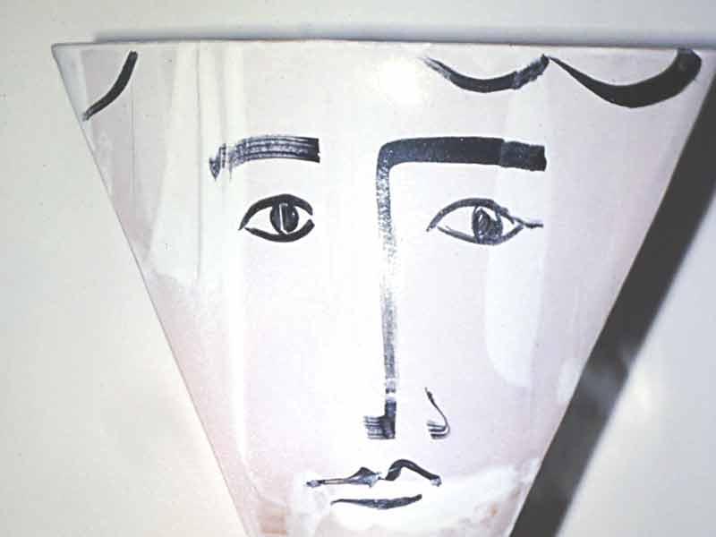 Keramik Portraet-Vase